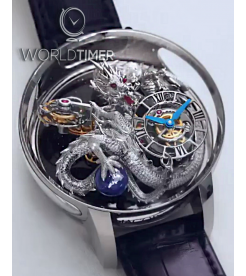 Jacob & Co. 捷克豹 [NEW 2019 MODEL] Astronomia Dragon Tourbillon AT102.30.DR.UA.A (Retail:HK$8,800,000)