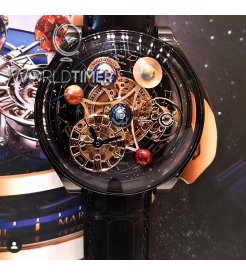 Jacob & Co. 捷克豹 [NEW MODEL] Astronomia Solar Planets Black Gold Tourbillon (Retail:US$318,000)