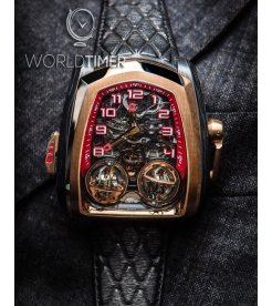 Jacob & Co. 捷克豹 [NEW][LIMITED 18 PIECE] Twin Turbo Twin Triple Axis Tourbillon TT100.40.NS.NK.C (Retail:HK$4,056,700)