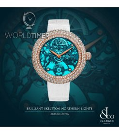 Jacob & Co. 捷克豹 [NEW][LIMITED 101 PIECE] Brilliant Skeleton Northern Lights Rose Gold BS431.40.RD.QB.A (Retail:HK$754,100)