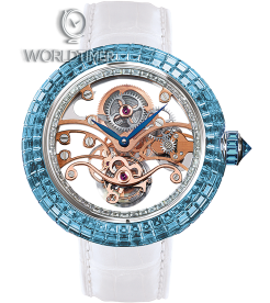 Jacob & Co. 捷克豹 [NEW] Brilliant Skeleton Tourbillon Blue BT542.30.BC.RB.A (Retail:HK$7,158,800)