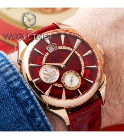 Jacob & Co. 捷克豹 [NEW] Palatial Classic Manual Big Date Mineral Crystal Dial RG PC400.40.NS.MR.A (Retail:HK$271,100)