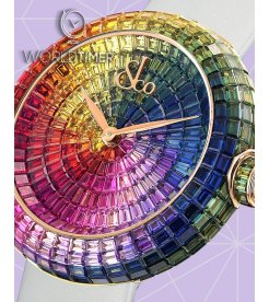 Jacob & Co. 捷克豹 [NEW] Brilliant Full Baguette Rainbow Rose Gold 44mm Ladies BA534.40.HR.HR.B (Retail: HK$4,963,400)