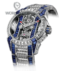 Jacob & Co. 捷克豹 [NEW][LIMITED 6 PIECE] EPIC-X Tourbillon Baguette Bracelet Blue EX500.30.BD.BB.A30BB (Retail:HK$10,976,800)