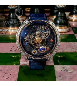 Jacob & Co. 捷克豹 [NEW][LIMITED 18 PIECE] Astronomia Solar Baguette AS800.40.AP.YK.A (Retail:HK$4,581,600)