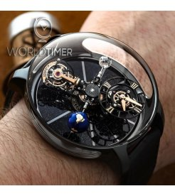Jacob & Co. 捷克豹 [NEW][LIMITED 18 PIECE] Astronomia Tourbillon Black Ceramic Black & RG Movement AT100.95.KN.SD.B (Retail:HK$4,488,000)