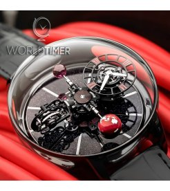 Jacob & Co. 捷克豹 [NEW][LIMITED 18 PIECE] Astronomia Black Ceramic Red AT100.95.KR.SR.B (Retail:HK$3,784,000)