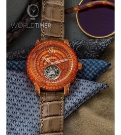 Jacob & Co. 捷克豹 [NEW][LIMITED 3 PIECE] Caviar Flying Tourbillon Orange Sapphire CV201.40.BO.BO.A (Retail:HK$5,727,000)