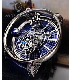 Jacob & Co. 捷克豹 [NEW][LIMITED 9 PIECE] Astronomia Tourbillon Baguette Blue AT800.30.BD.BB.A (Retail:HK$8,800,000)