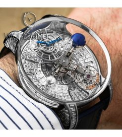 Jacob & Co. 捷克豹 [NEW][LIMITED 18 PIECE] Astronomia Tourbillon Baguette White Gold AT800.30.BD.BD.A (Retail:HK$8,800,000)