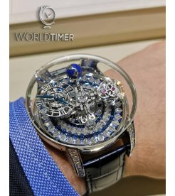 Jacob & Co. 捷克豹 [NEW][UNIQUE] 3-D Astronomia Tourbillon Baguette AT800.30.BD.UI.B (Retail:HK$10,560,000)
