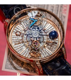 Jacob & Co. 捷克豹 [NEW][LIMITED 18 PIECE] Astronomia Tourbillon Baguette Rose Gold AT800.40.BD.BD.A (Retail:HK$8,800,000)