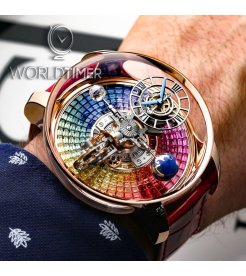 Jacob & Co. 捷克豹 [NEW][UNIQUE] Astronomia Tourbillon Baguette Rainbow Sapphires AT800.40.BD.UD.A (Retail:CHF 1'000'000)