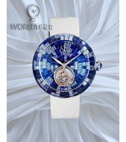 Jacob & Co.捷克豹 [NEW][UNIQUE] Brilliant Flying Tourbillon Blue Shades BT543.30.CB.CB.B (Retail:HK$5,154,300)