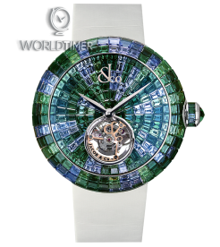 Jacob & Co. 捷克豹 [NEW][LIMITED 18 PIECE] Brilliant Flying Tourbillon Green Camouflage BT543.30.CG.CG.B (Retail:HK$4,295,000)