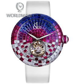 Jacob & Co. 捷克豹 [NEW][UNIQUE] Brilliant Flying Tourbillon Purple Degrade BT543.30.SX.UC.B (Retail:HK$7,349,700)
