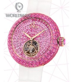 Jacob & Co. 捷克豹 [NEW][LIMITED 18 PIECE] Brilliant Flying Tourbillon Pink Sapphire BT543.40.BP.BP.B (Retail:HK$4,295,300)