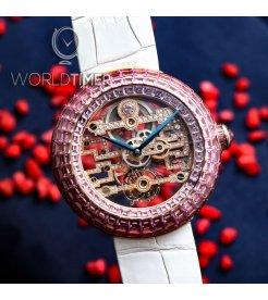 Jacob & Co.捷克豹 [NEW][LIMITED 18 PIECE] Brilliant Skeleton Art Deco Pink Sapphire BT545.40.SP.RB.B (Retail:HK$5,727,000)