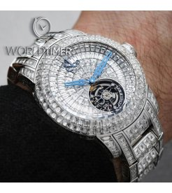 Jacob & Co. 捷克豹 [NEW][LIMITED 18 PIECE] Caviar Tourbillon 47mm Diamond Bracelet CV201.30.BD.BD.A30BA (Retail:HK$13,744,800)
