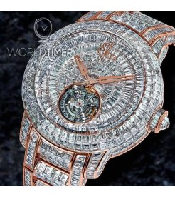 Jacob & Co. 捷克豹 [NEW][LIIMITED 18 PIECE] Caviar Tourbillon Diamond Bracelet 47mm CV201.40.BD.BD.A40BA (Retail:HK$13,744,800)