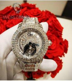 Jacob & Co.捷克豹 [NEW][LIMITED 18 PIECE] Caviar Tourbillon Diamond Bracelet 44mm CV300.30.BD.BD.A30BA (Retail:HK$12,885,800)