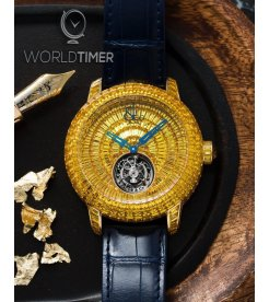 Jacob & Co. 捷克豹 [NEW] Caviar Tourbillon Yellow Sapphire CV201.50.BY.BY.A (Retail:HK$5,727,000)