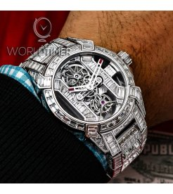 Jacob & Co. 捷克豹 [NEW][LIMITED 6 PIECE] EPIC-X Tourbillon Baguette Bracelet EX500.30.BD.BD.A30BA (Retail:HK$11,454,000)