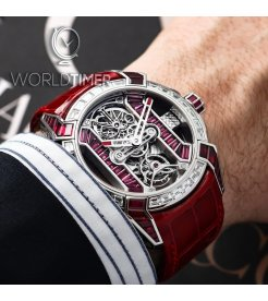 Jacob & Co. 捷克豹 [NEW][LIMITED 6 PIECE] EPIC-X Tourbillon Baguette Platinium Ruby EX500.60.BD.BR.A (Retail:HK$5,536,100)