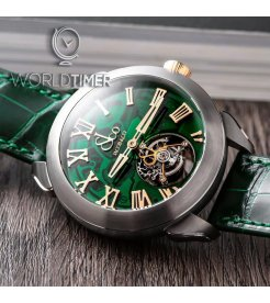 Jacob & Co. 捷克豹 [NEW][LIMITED 36 PIECE] Palatial Flying Tourbillon Hours & Minutes Green PT520.24.NS.QG.A (Retail:HK$859,100)