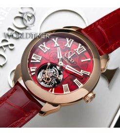 Jacob & Co. 捷克豹 [NEW][LIMITED 12 PIECE] Palatial Flying Tourbillon Hours & Minutes Rose Gold Red PT520.40.NS.QR.A (Retail:HK$1,097,700)