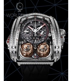 Jacob & Co. 捷克豹 [NEW][LIMITED 18 PIECE] Twin Turbo Furious Baguette White Gold TT800.30.BD.AA.A