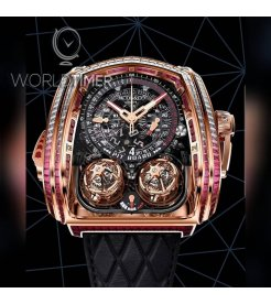 Jacob & Co. 捷克豹 [NEW][LIMITED 18 PIECE] Twin Turbo Furious Baguette Rose Gold TT800.40.BR.AA.A