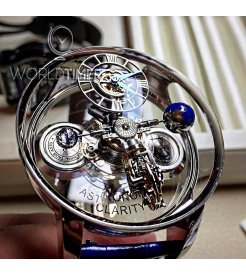 Jacob & Co.捷克豹 [NEW][LIMITED 9 PIECE] Astronomia Clarity White Gold Tourbillon AT120.30.AD.SB.A (Retail:HK$4,752,000)