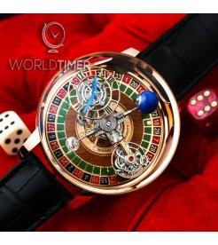 Jacob & Co. 捷克豹 [NEW][LIMITED 18 PIECE] Astronomia Gambler Tourbillon AT150.40.RO.SD.A (Retail:HK$5,536,100)