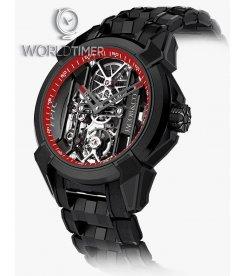JACOB & CO.捷克豹 [NEW] BLACK TITANIUM BRACELET EX100.21.PS.RW.A21AA (Retail:HK$181,400)