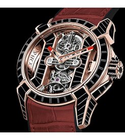 Jacob & Co. 捷克豹 [NEW] EPIC X TOURBILLON BAGUETTE ROSE GOLD EX500.40.BS.BS.A (Retail:HK$2,672,600)