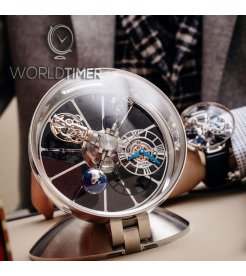 JACOB & CO. 捷克豹 [NEW][LIMITED 101 PIECE] ASTRONOMIA TABLECLOCK TOURBILLON AT900.10.AC.MT.A (Retail:HK$1,408,000)