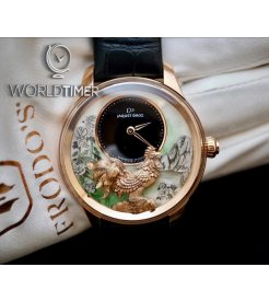Jaquet Droz [NEW] Petite Heure Minute Relief Rooster J005023282 (Retail:CHF 70'200)