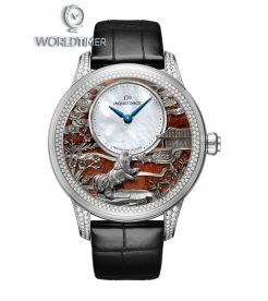 JAQUET DROZ [NEW] Petite Heure Minute Relief Dog J005024283 (Retail:CHF 79'950)