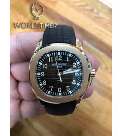 "Patek Philippe ""Tiffany & Co."" [2014 USED] 5167R Aquanaut Brown Dial Rose Gold Rare Watch"