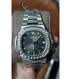 Patek Philippe [NEW] 5711/110P Nautilus Platinum Diamond Bezel Watch