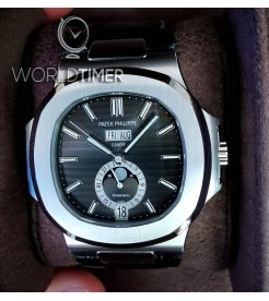 "Patek Philippe ""Tiffany & Co."" [NEW] Nautilus Annual Calendar Moonphase Black Dial 5726A"