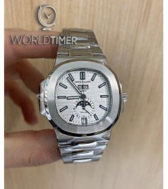 "Patek Philippe ""Tiffany & Co."" [NEW] Nautilus Annual Calendar Moonphase White Dial 5726/1A"