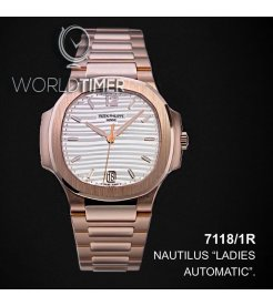 Patek Philippe [2019 NEW MODEL] Nautilus Ladies Silvery Opaline Dial Rose Gold 7118/1R