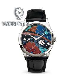 Patek Philippe [NEW][DOUBLE SEALED][雙封] Calatrava Enamel Artwork Dial 5077P-097 Watch