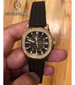 PATEK PHILIPPE [NEW] Aquanaut Luce Rose Gold Diamond Ladies 5068R (Retail:HK$331,000)