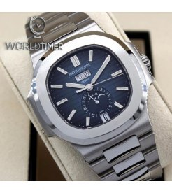 Patek Philippe [NEW] Nautilus Annual Calendar Moon Phase 5726/1A Gradient Blue Dial