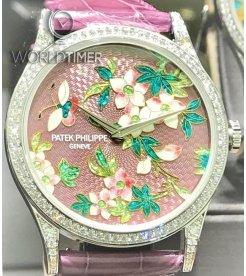 Patek Philippe [NEW][LIMITED] 5077/100G-025 Calatrava Chinese Antique Porcelain Ladies Watch
