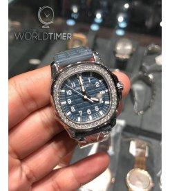 Patek Philippe [NEW] Aquanaut 5067A-025 Blue Arabic Diamond Bezel Ladies Watch