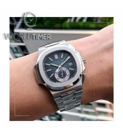 Patek Philippe [2008 USED] Nautilus Chronograph Blue Dial 5980/1A Collectable Watch - SOLD!!